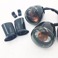 smoke Rear Turn Signal Light w/ bracket For Harley XL883 XL1200 Sportster 92-16