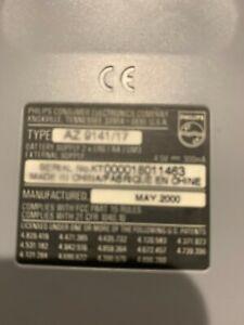 Philips AZ9141/17 Portable CD Player Walkman 40 Second ESP Tested