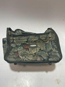 Vintage Jaguar Floral Tapestry  Luggage Shoulder Bag Carry On Overnight