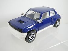Corgi Juniors, Renault 5 Turbo, Plain Dark Blue on white. Unmarked.