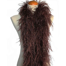Chocolate Brown 4ply Ostrich Feather Boa Scarf Prom Halloween Costumes Dancing