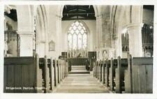 REAL PHOTO POSTCARD BRIGSTOCK CHURCH INTERIOR, (NEAR CORBY), NORTHAMPTONSHIRE