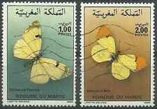 Timbres Papillons Maroc 1017/8 o lot 27728