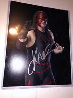 Kane autographed 8x10 Photo COA WWE Wwf WCW TNA Wrestling