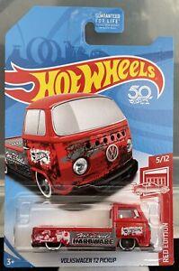 Hot Wheels Volkswagen T2 Pickup Red Edition U.S. Exclusive 2018 Die-cast
