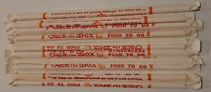 Lot of 10 Rare 70's era Jack in the Box restaurant straws original packaging