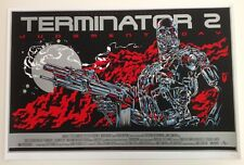 TERMINATOR 2 MONDO POSTER BY KEN TAYLOR RARE LIMITED EDITION SCREEN PRINT