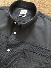 WORN ONCE OXBOW NAVY PANEL GINGHAM SHORT SLEEVE SHIRT 2XL XXL