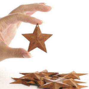 "100 Rusty Barn Stars 2.25 in 2 1/4"" Primitive Rust Craft Americana Farmhouse"