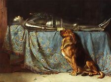 Dipinto di Cane Cavaliere resto Segugio RIVIERE ART PRINT lah383a