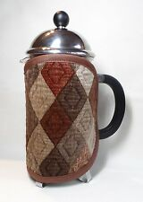 Handmade cafetiere/coffee cosy. Fits an 8 cup jug. Diamond patterned fabric.
