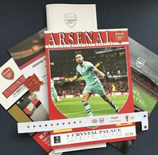 Arsenal V Crystal Palace Programme 21/4/19 +team Sheet+badge & More,  Brand New