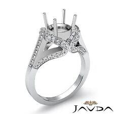 Round Diamond Engagement Semi Mount 1.2Ct Javda Ring 18k White Gold Halo Pave