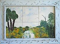 Painting Everglades Vintage Southern Outsider Folk Florida Tiles Dicker Hammock