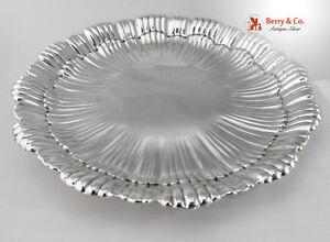 Shell Serving Platter International Sterling Silver WH97