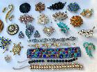 Vintage JULIANA rhinestone pin bracelet Repair Lot SHERMAN KRAMER AUSTRIA CORO