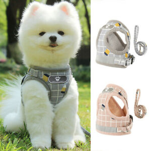 Dog Cat Harness Leash Puppy Adjustable Pet Vest Soft Mesh Breathe Clothes Braces