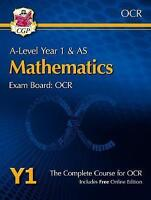 New A-Level Maths for OCR: Year 1 & AS Student Book by CGP Books (Mixed media pr
