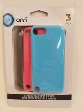 3 Pack Silicon Phone Cases For iPod Touch 5 and 6 With 3 Different Colors New