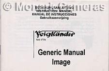 Voigtlander R2 S C Camera Instruction Book, More Listed