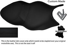 BLACK CUSTOM FITS BMW K 1200 S K 1300 S REAL LEATHER SEAT COVER