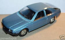 MINIATURE CAR MADE FRANCE SOLIDO RENAULT FUEGO BLEU METAL 1/43