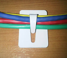 x10 Ultra Strong Self Adhesive Steel Cable Tidy Clip Organiser 14x20mm SAF Tie