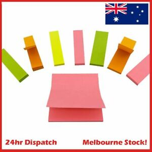 400 Sheets Sticky Notes Strip Pad Bookmark Label Index Page Marker - AU