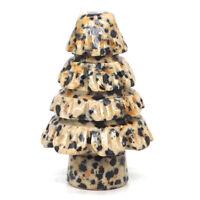 Natural Gems Dalmation Jasper Christmas Tree Decor Healing Crystal Rock Gift