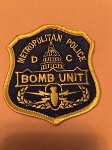 """WASHINGTON DC METROPOLITAN POLICE BOMB UNIT PATCH 3"""""""