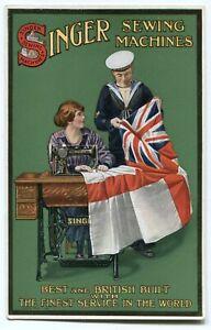 Singer Patriotic,WW1,White Ensign, Model 66K Sewing Machine on Treadle, Sailor