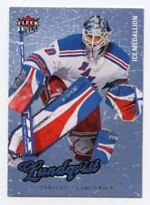 08-09 FLEER ULTRA ICE MEDALLION #53 HENRIK LUNDQVIST 044/100 RANGERS *56278