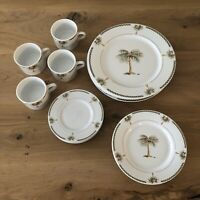 Gibson Bahama Palm Tree Dinnerware Set Service For Four