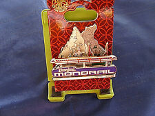 Disney * DLR MONORAIL - CASTLE & MOUNTAINS - DIORAMA *New on Card Attraction Pin