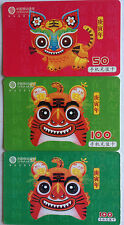 China Used Phone Reload Cards - 3 张 虎年 (Tiger year) 系列