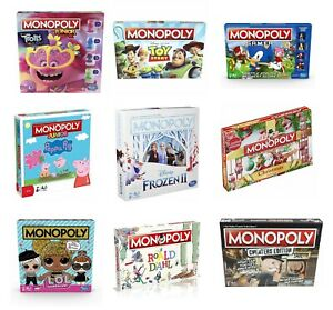 Hasbro Gaming Monopoly Classic Family Fun Board Game Assorted Versions Mono Poly