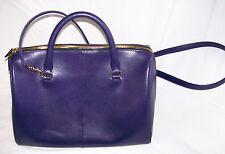 Kurt Geiger Saffiano Bowling Bag Purple leather handbag brand new