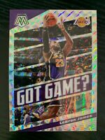 2019-20 Panini Mosaic LeBRON JAMES Got Game? Silver mosaic prizm #7
