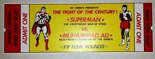 1978 Muhammed Ali vs Superman Ticket Rare