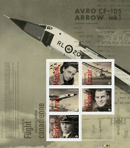 Canada Aviation Stamps 2019 MNH Canadians in Flight Aircraft 5v M/S