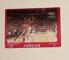 1997-98 UPPER DECK DIAMOND VISION MICHAEL JORDAN SIGNATURE MOVES CARD #S4  BULLS