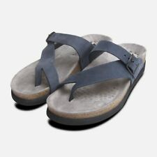 f2f986ab551 Helen Toe Post Navy Blue Nubuck Ladies Mephisto Sandals