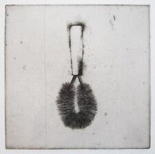 "JIM DINE Signed 1973 Original Etching - ""Wire Brush"""