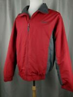Cabelas Men's Fleece Lined Zip Up Jacket Winter Coat Size M Tall Insulated Nylon