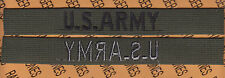 US Army full embroidered Name tape cloth OD Green & Black sew on patch