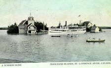 C.1900-08 Summer Home Thousand Islands, St Lawrence River Steamer Ship F15