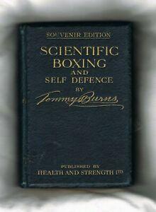 SUPER RARE 1908 HEAVYWEIGHT CHAMPION TOMMY BURNS boxing book boxer Jack Johnson