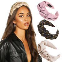 Solid Color Headbands for Women Pleated Wide Hair Bands Hair Accessories Hoops