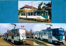 3 Romania Tram Photos ~ RATP Ploiesti - 1980s Tatra KT4 Artics: ex ViP Potsdam