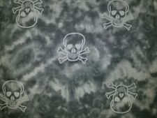 "14"" ACCENT PILLOW SHAM COVER BAD TO THE BONE SKULL CROSSBONE GRAY TYE DYE"